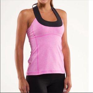 Lululemon Racerback Tank Top in Pink and Black